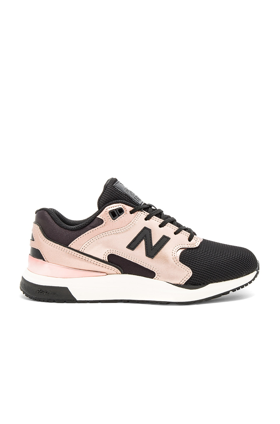 New Balance New Classics Sneaker in Metallic Rose & Black