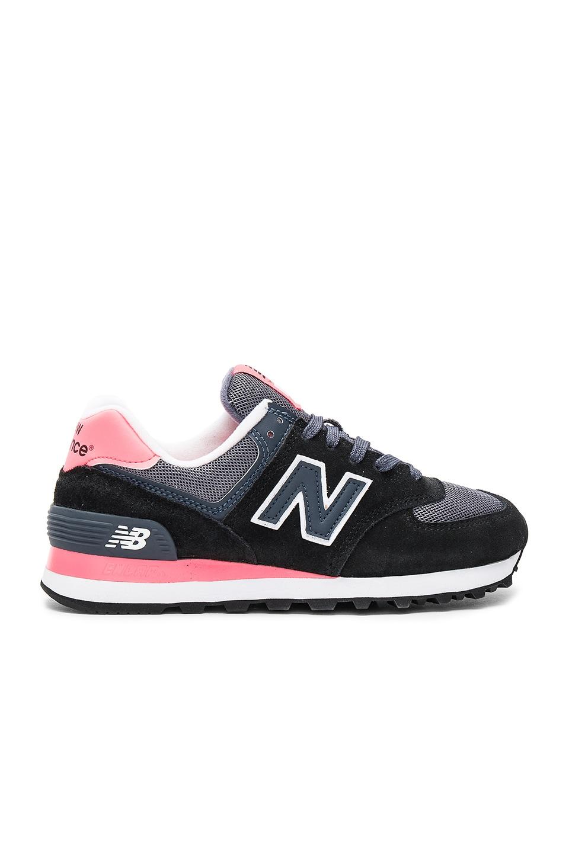 New Balance Classic Running Sneaker in Black Guava & Grey