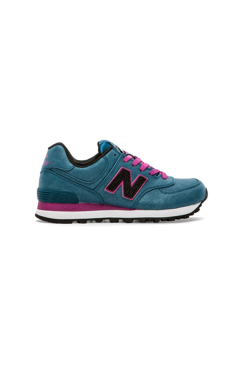 New Balance Precious Metals Collection in Blue & Rasberry