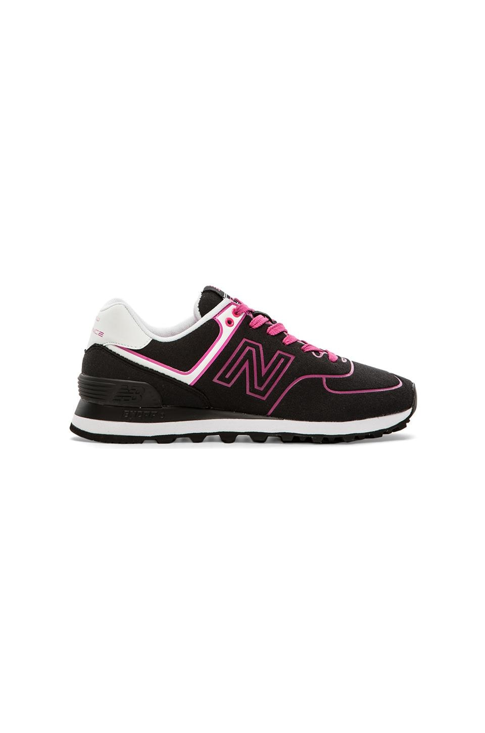 New Balance Neon Collection in Black & Pink