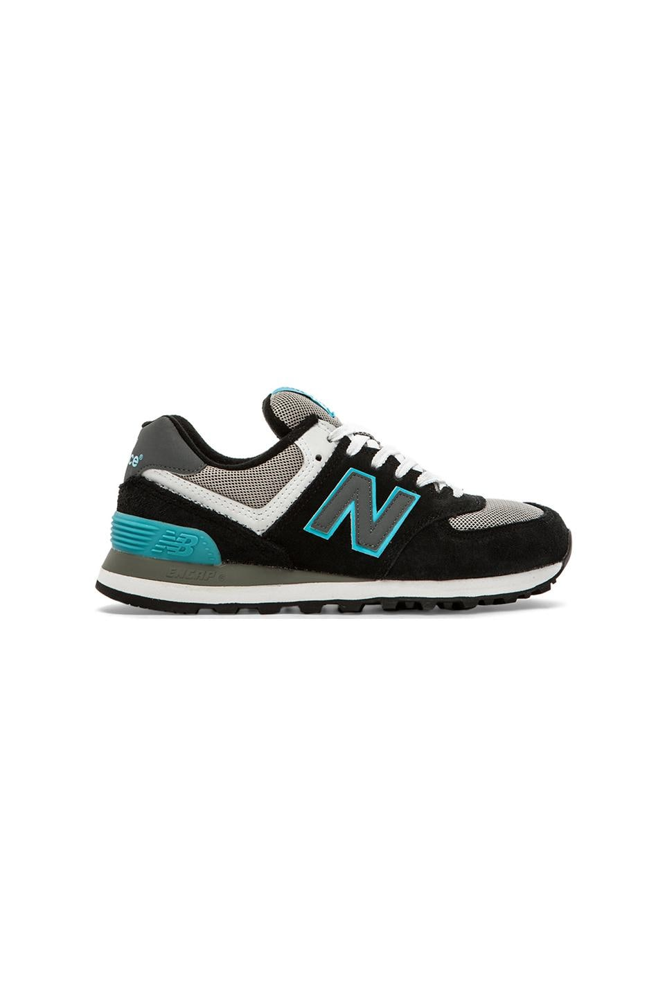 New Balance Core Plus Collection in Black & Blue
