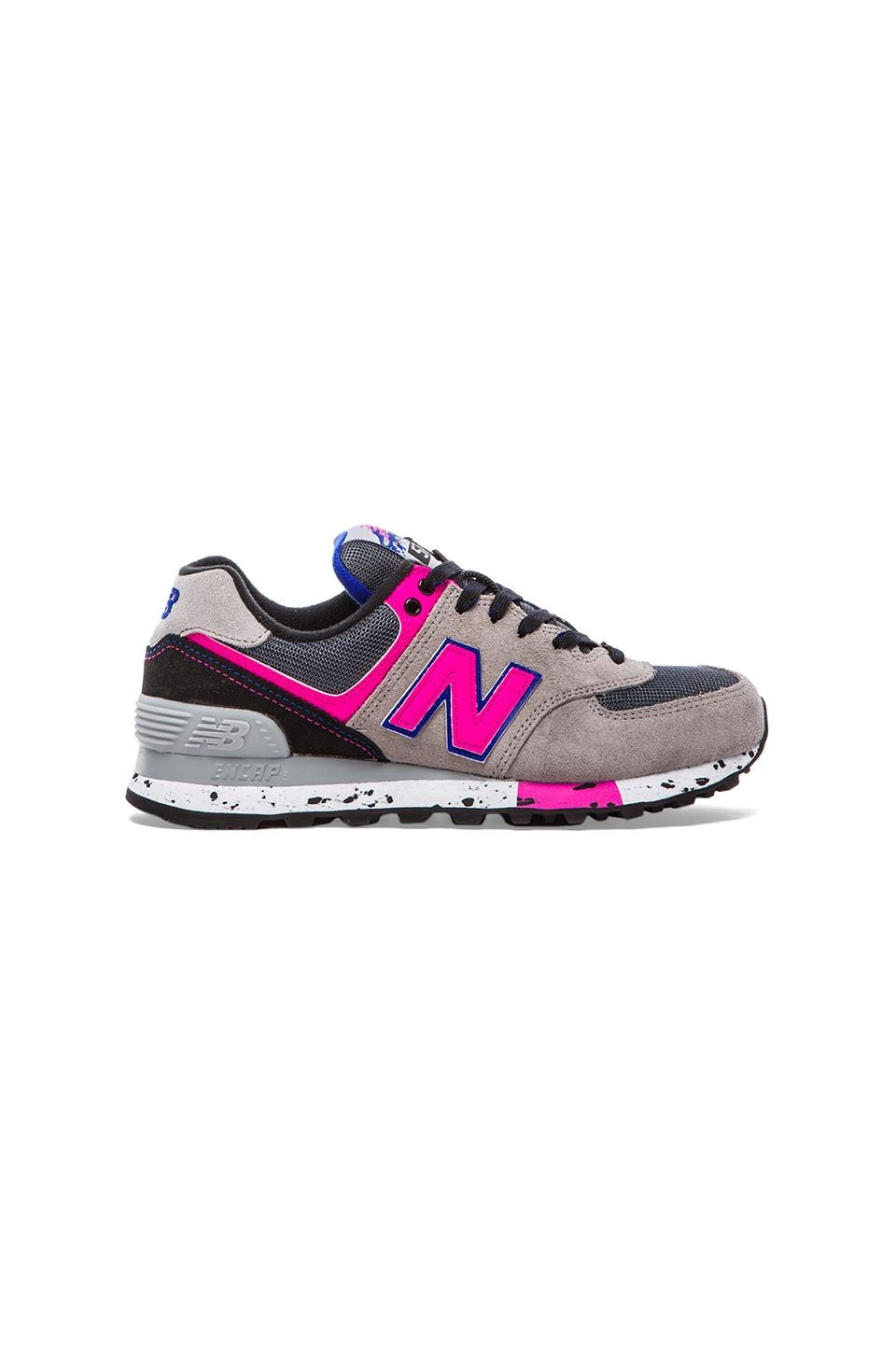 New Balance 574 '90S Outdoor Collection Sneaker in Grey & Pink