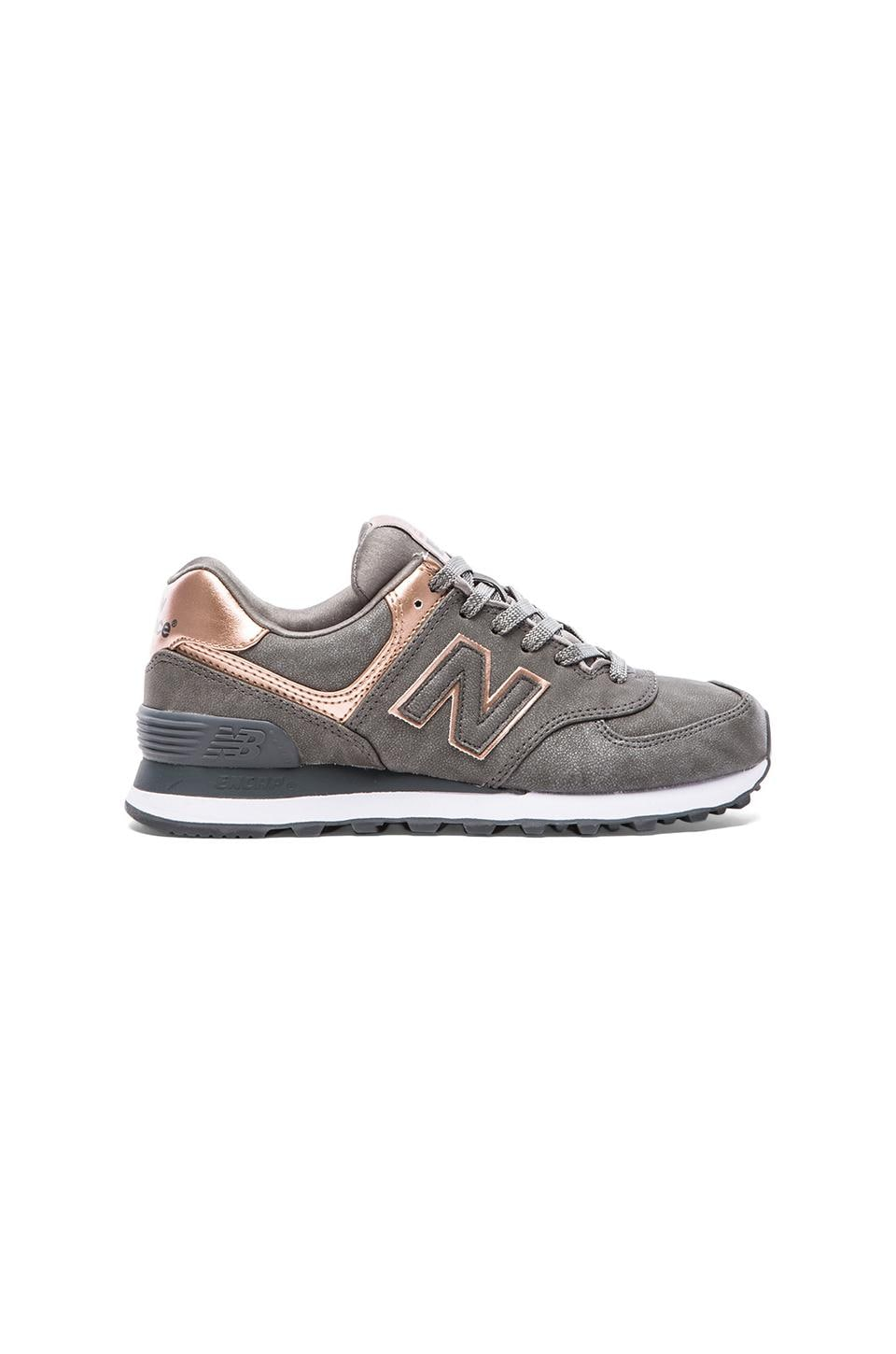 New Balance 574 Precious Metals Collection Sneaker en Argent