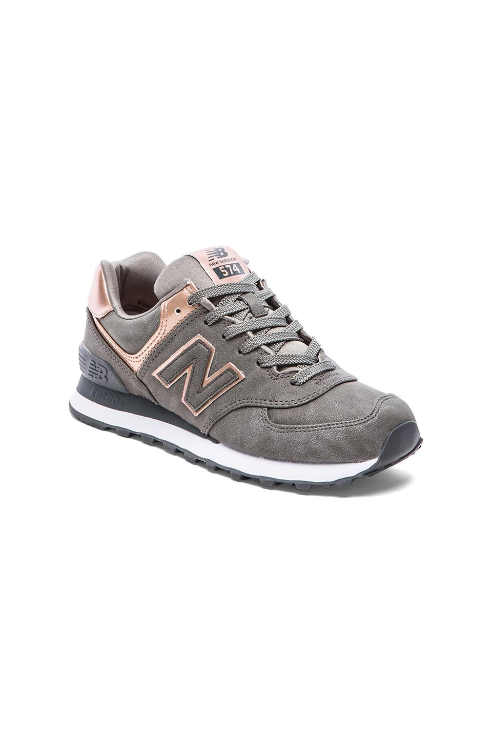 New Balance Metallic Gris