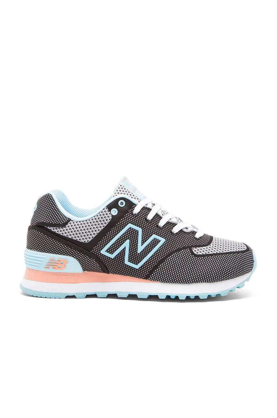 New Balance 574 Woven Collection Sneaker in Black & Blue