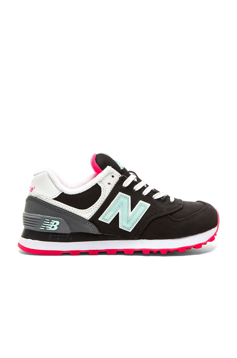New Balance 574 Glacial Collection Sneaker in Black & Grey