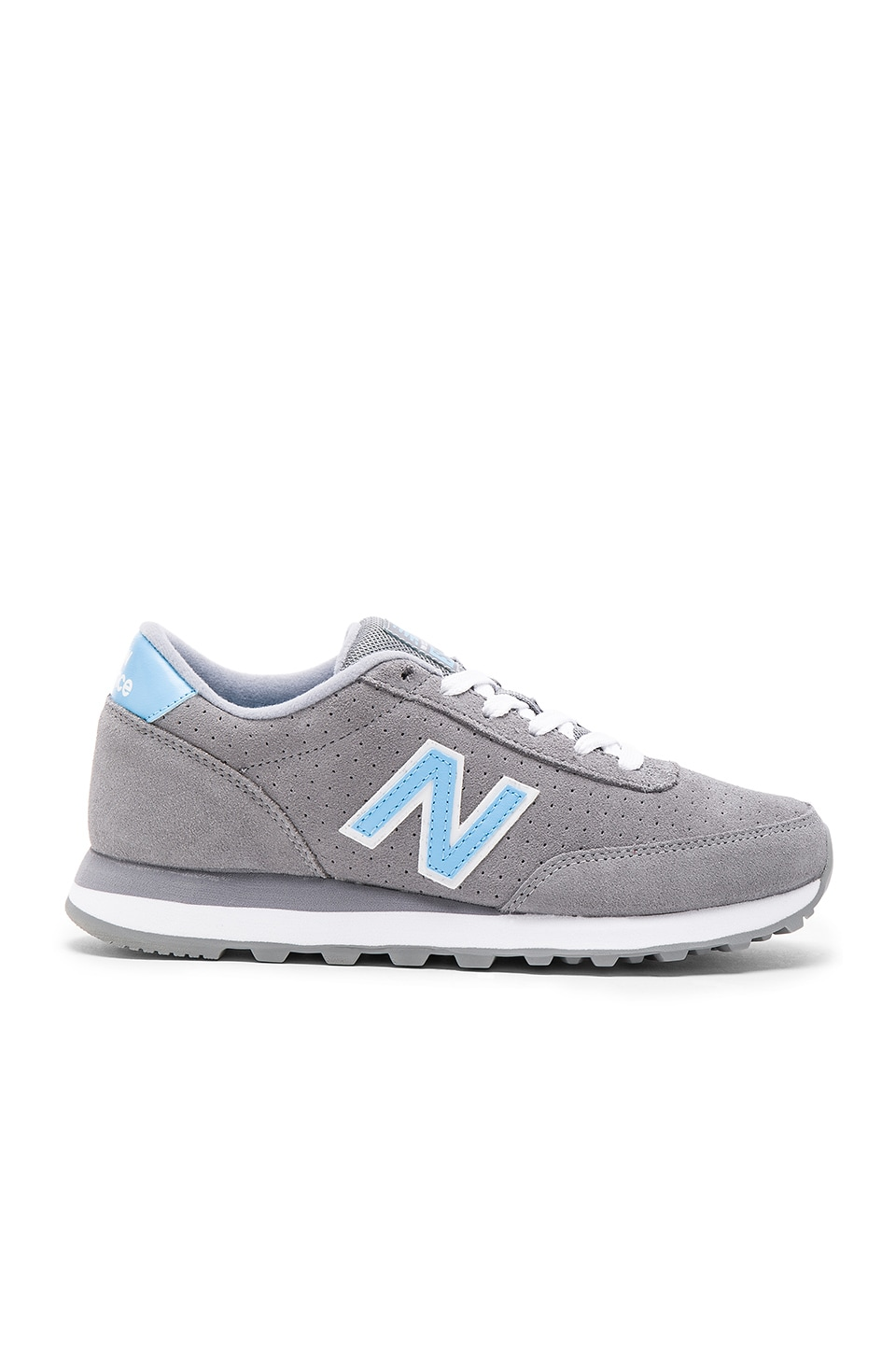 New Balance Classics All Suede Collection Sneaker in Grey & Blue