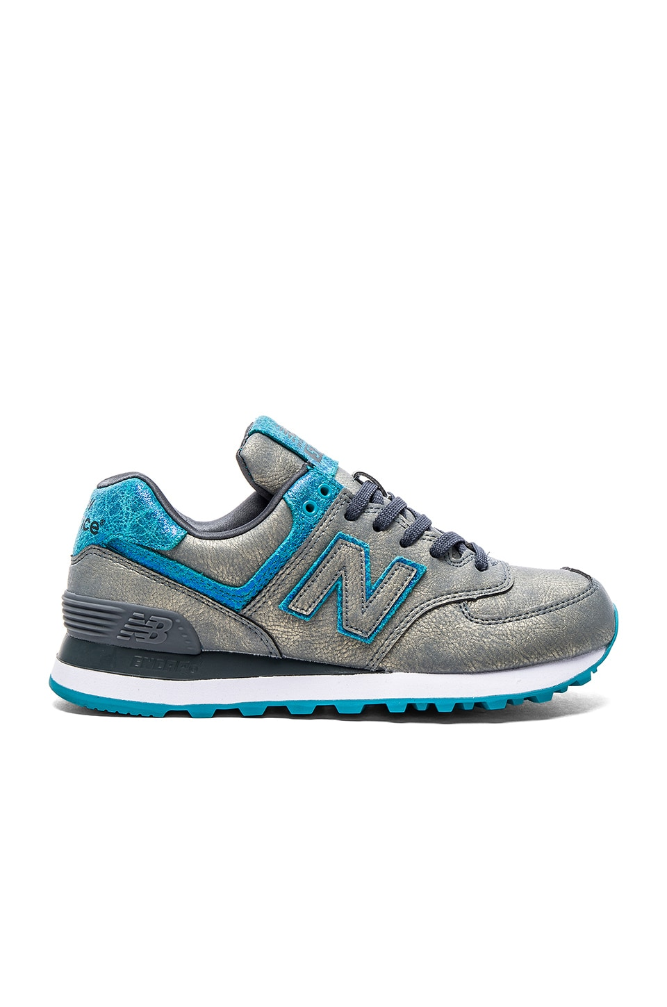 New Balance 574 Mineral Glow Collection Sneaker in Grey & Blue
