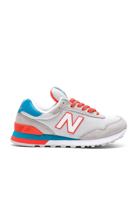 New Balance Classics Athleisure x NB Sneaker in Grey & Deep Sky & Fireball