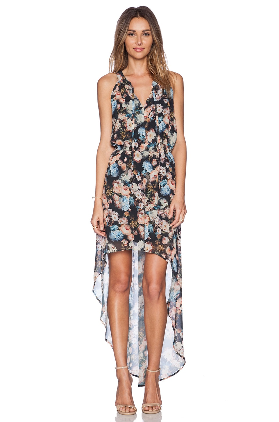 New Friends Colony Floral Hi Lo Dress in Multi