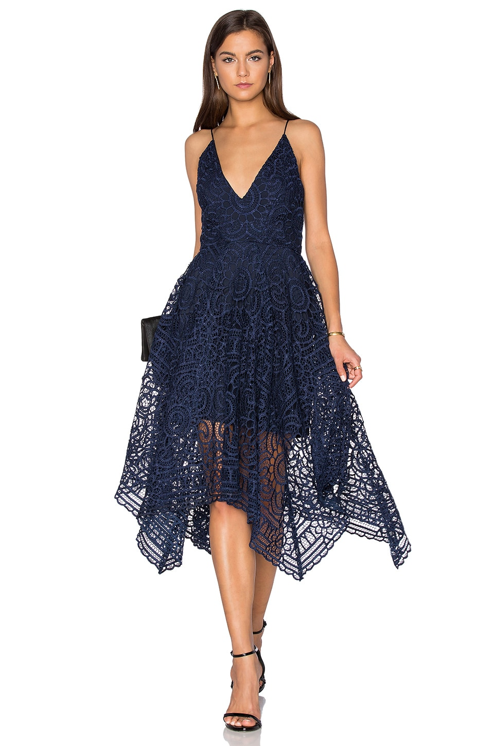 Geo Floral Lace Ball Dress by NICHOLAS