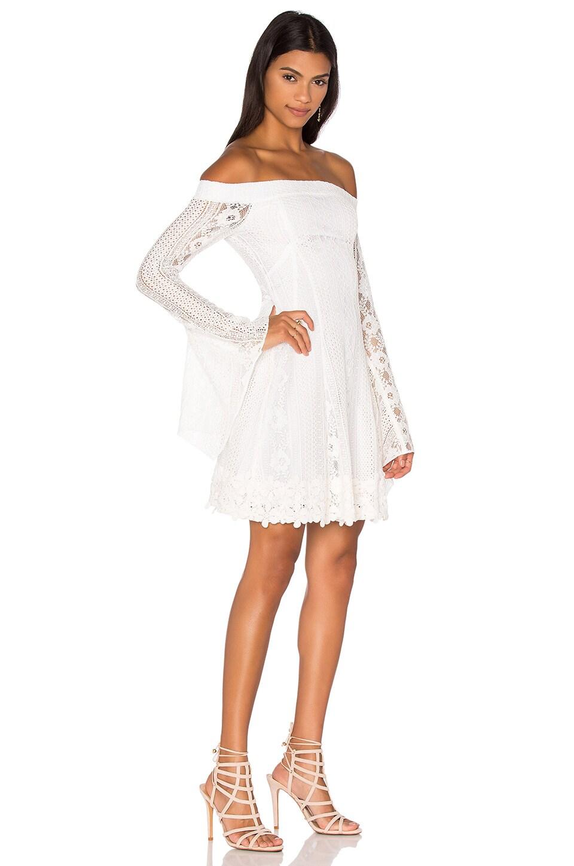 Cornelli Lace Fit & Flare Dress