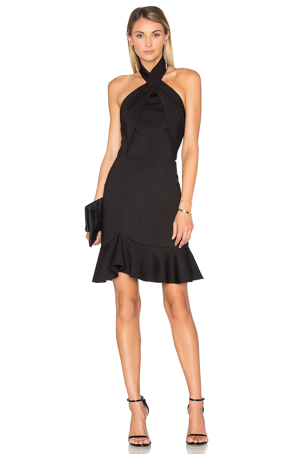 Asymmetric Ruffle Dress by NICHOLAS