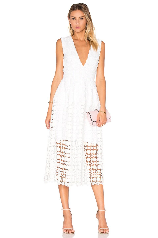 Mosaic Deep V Lace Dress