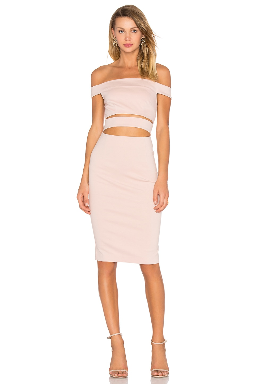 Ponti Off Shoulder Strap Dress by NICHOLAS