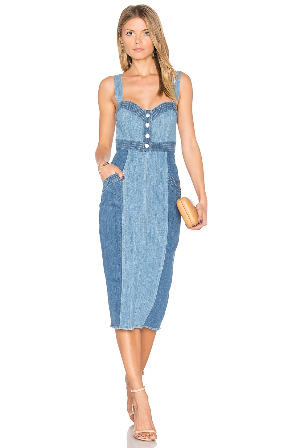 Denim Pinafore Dress by NICHOLAS
