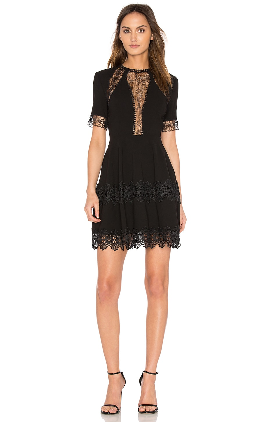 Lace Insert Mini Dress by NICHOLAS