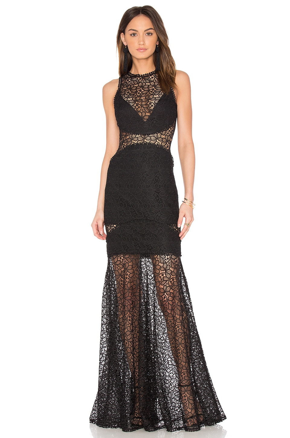 Lace Cutaway Gown by NICHOLAS