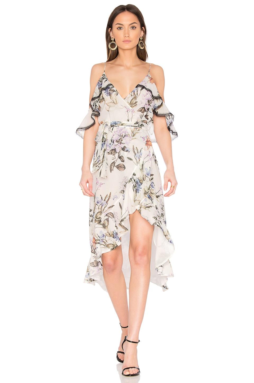 Iris Floral Wrap Dress by NICHOLAS