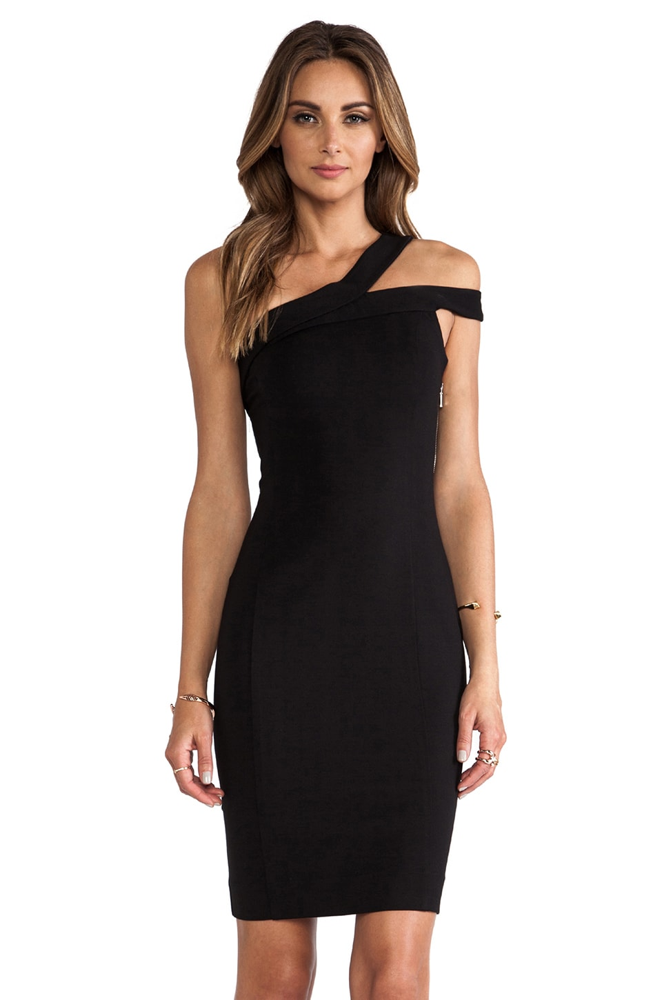 NICHOLAS Off the Shoulder Dress in Black