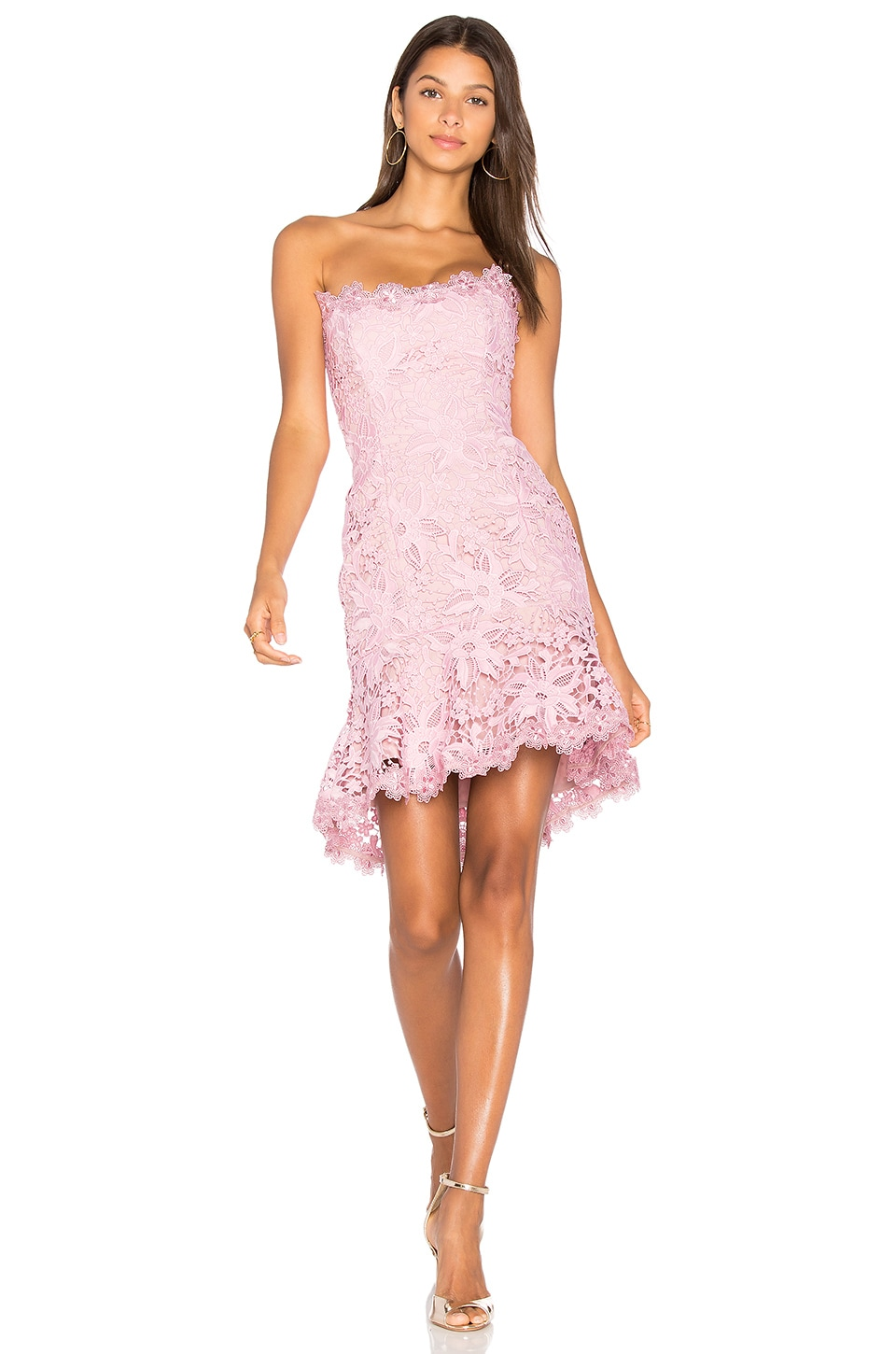 NICHOLAS Bellflower Mini Dress in Peony Pink