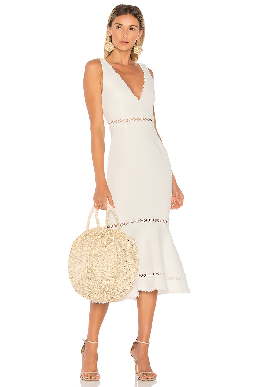 7ff15863692a NICHOLAS Bandage Plunge Dress in White