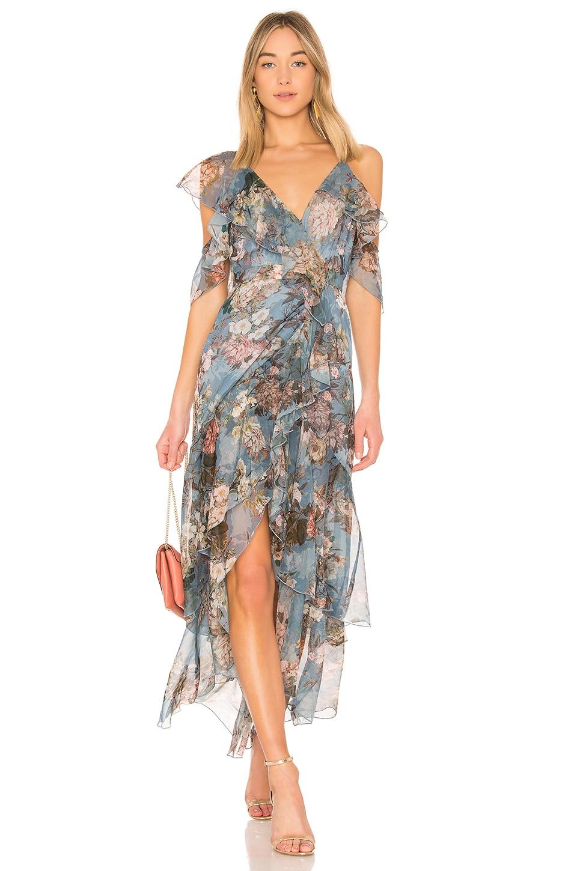 Arielle Fl Wrap Maxi Dress Nicholas 488