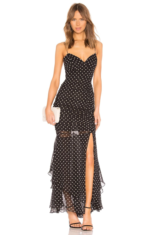 Polka Dot Drawstring Layered Gown