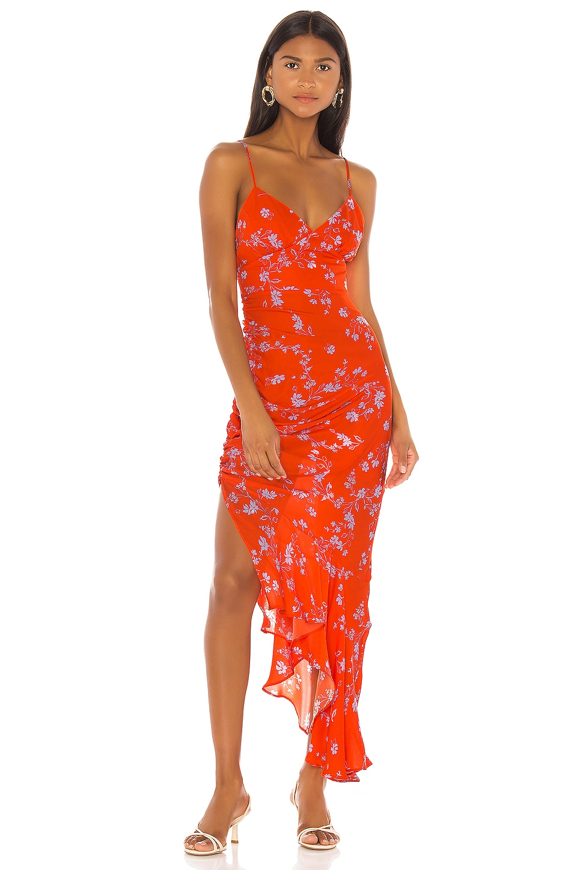 NICHOLAS Triangle Top Slip Dress in Poppy Multi