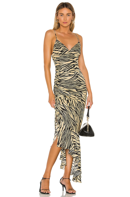 NICHOLAS Triangle Top Slip Dress in Zebra
