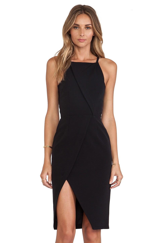 NICHOLAS Tech Stretch Halter Neck Dress in Black