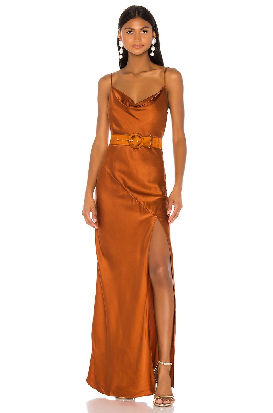 NICHOLAS Simone Dress in Copper