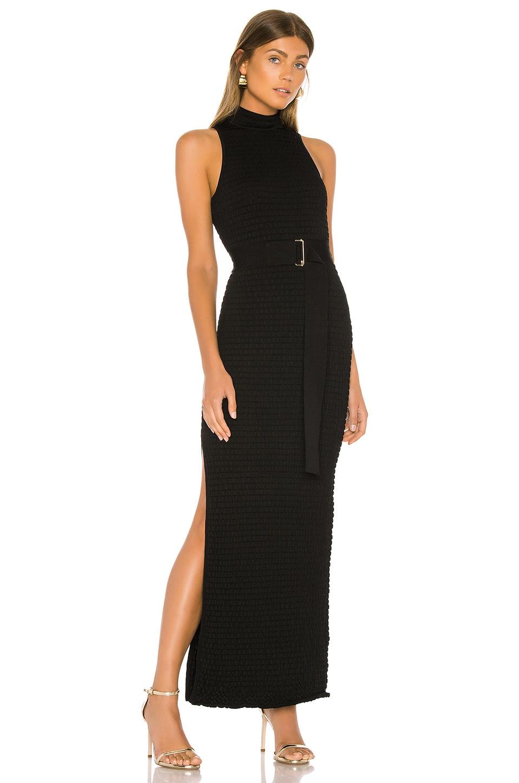 NICHOLAS Smocked Maxi Dress in Black