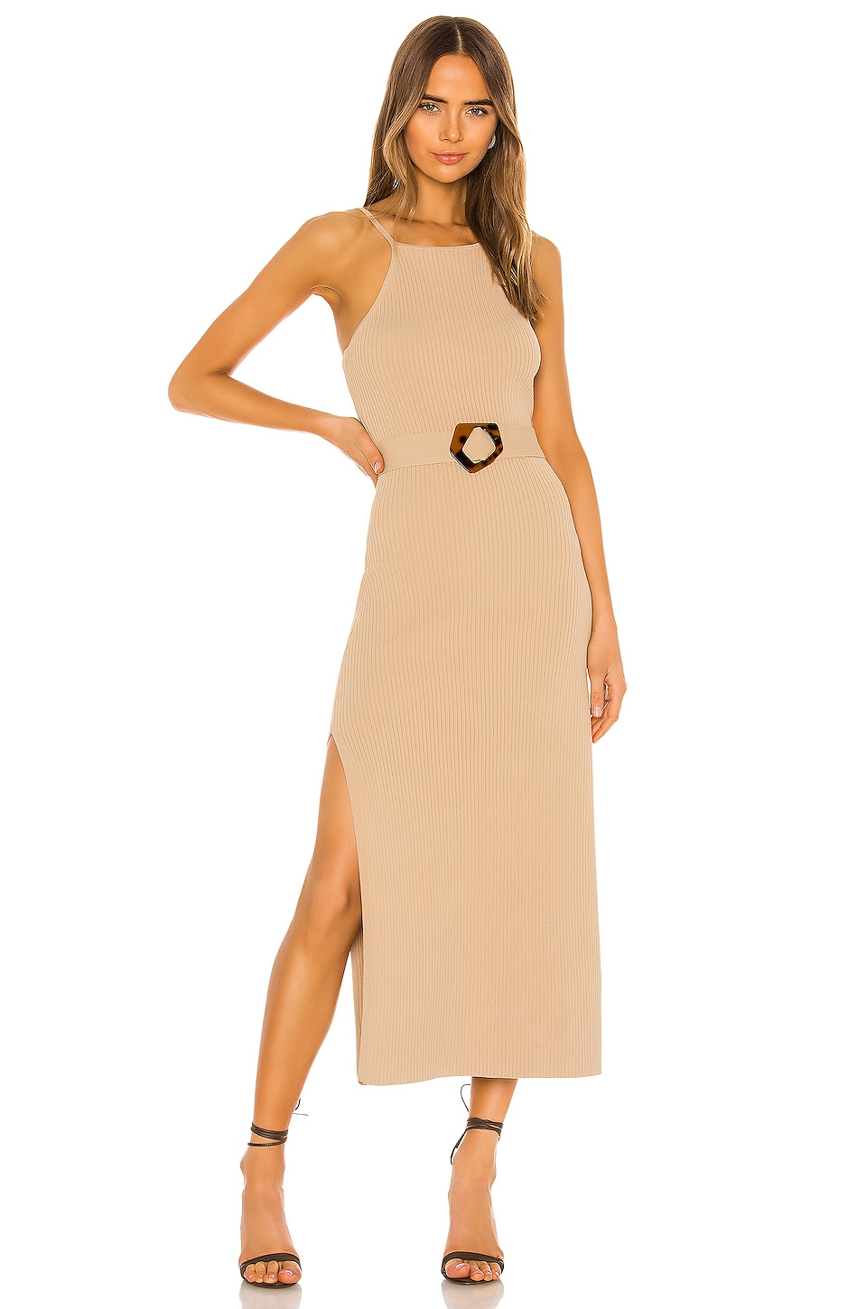 NICHOLAS Lily Dress in Taupe