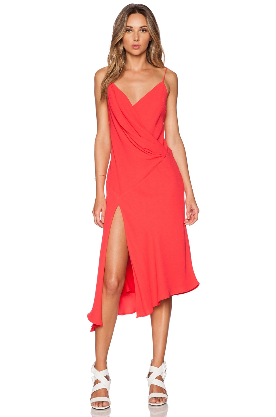 Bias Wrap Drape Dress