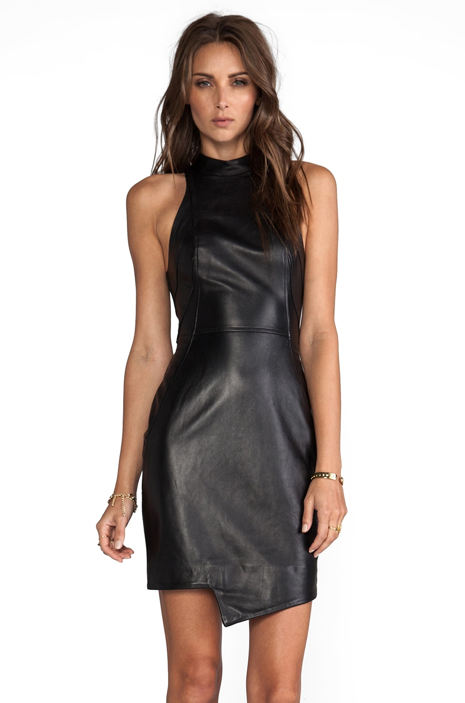 NICHOLAS Racer Paneled Dress in Black