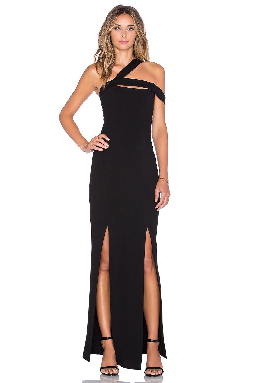 NICHOLAS Ponti Circular Curve Gown in Black