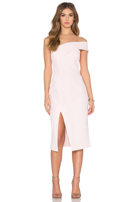 Technical Bonded One Shoulder Dress by NICHOLAS
