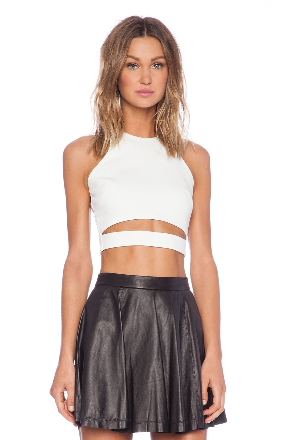 NICHOLAS Crop Top with Band in White
