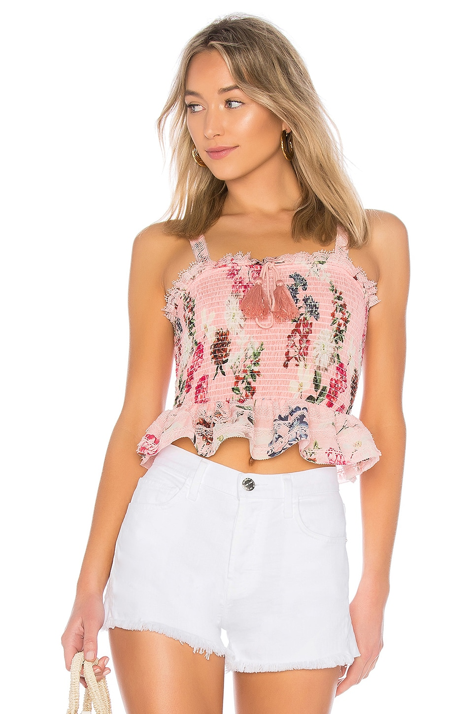 SHIRRED CROP TOP