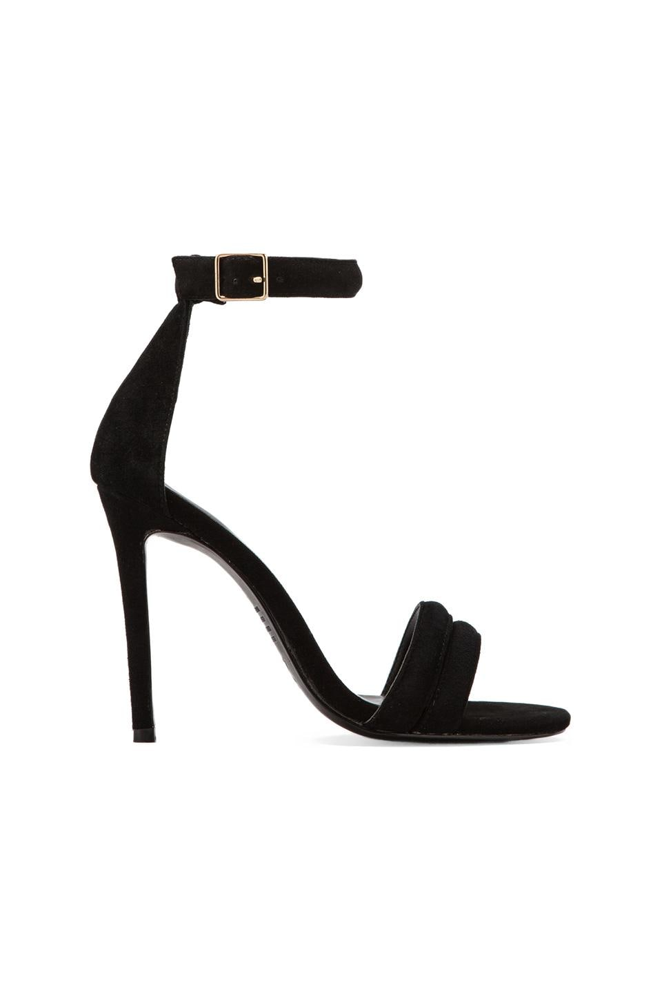 NICHOLAS Jocelyn Pump in Black Kid Suede