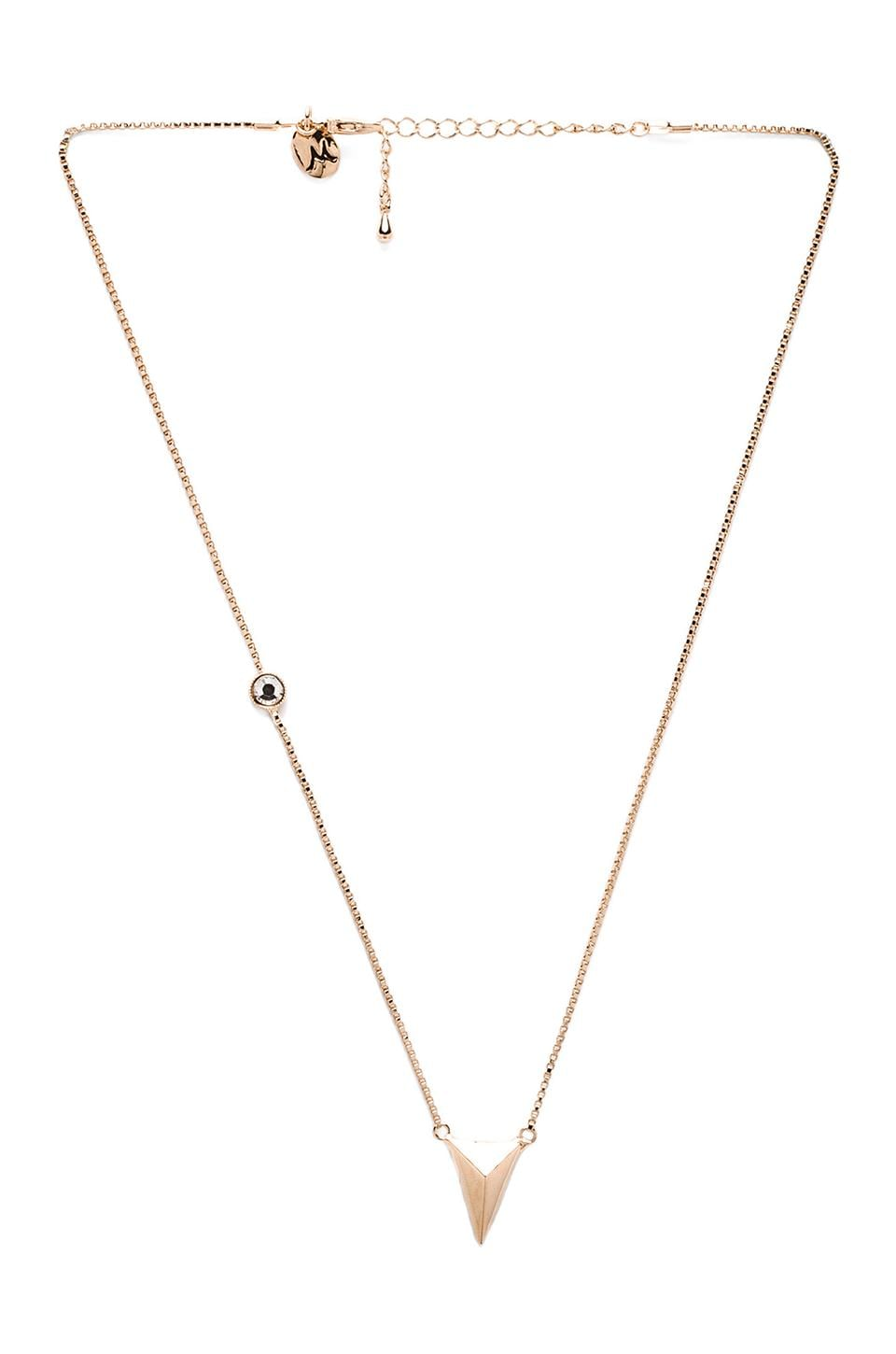 Nicole Meng Spire Necklace in Gold/Crystal