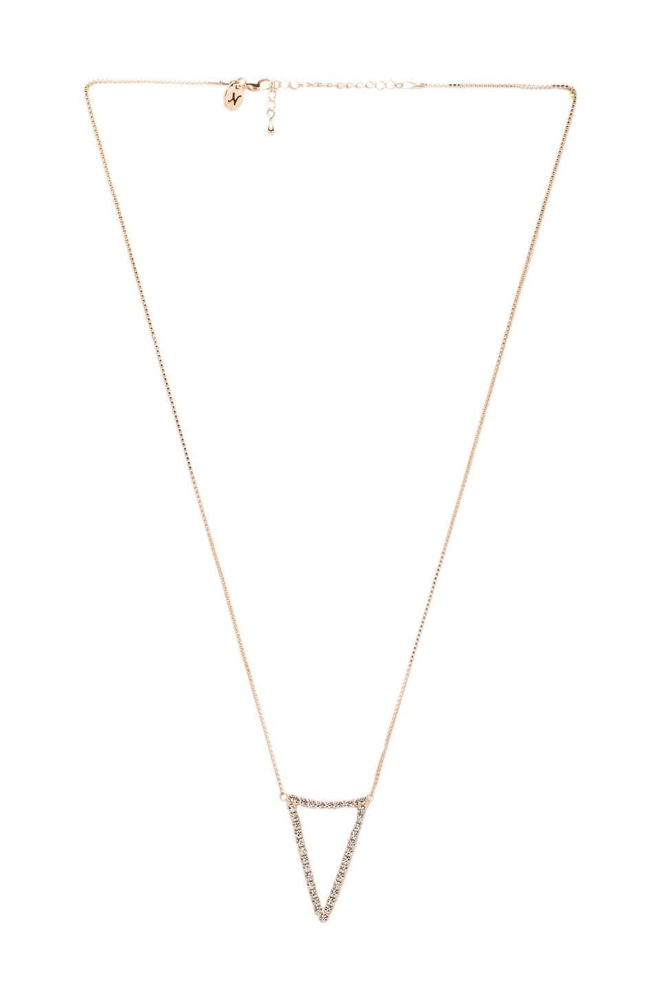 Nicole Meng Spire II Necklace in Gold/Crystal