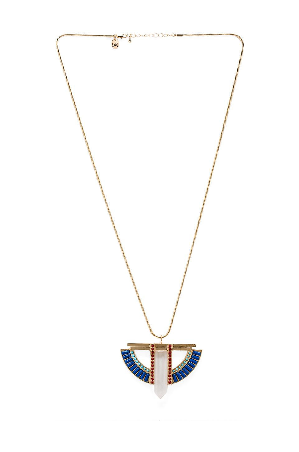 Nicole Meng Architecture Necklace in Gold