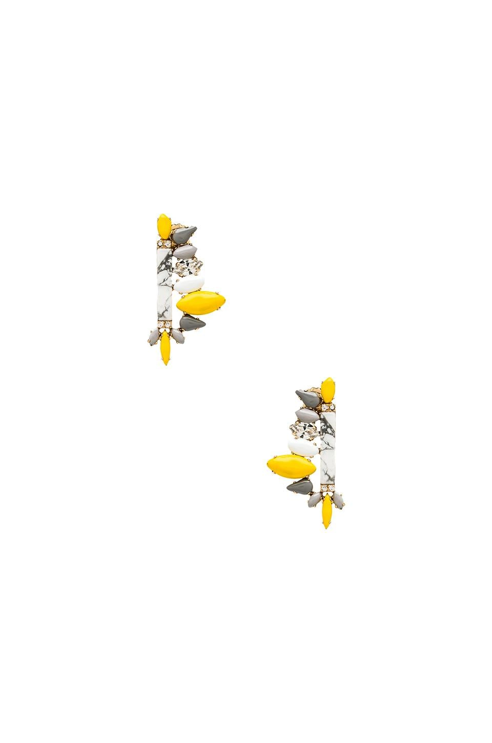 Nicole Meng Plumeria Earrings in Gold