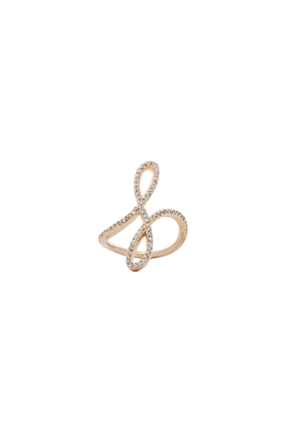 Nicole Meng Helix Ring in Gold