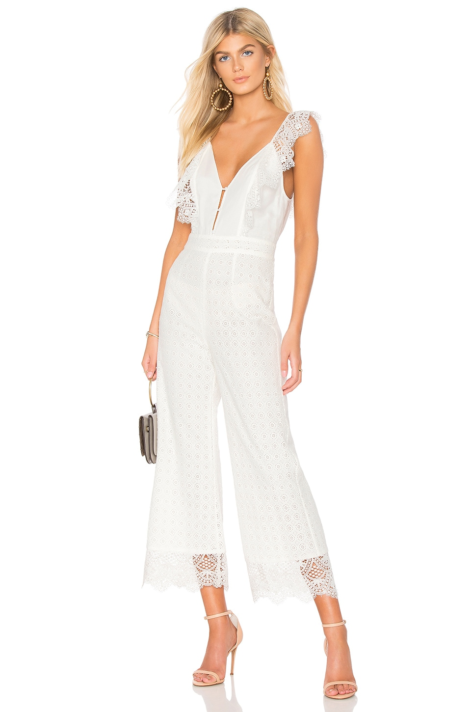 Nightcap Eliza Jumpsuit in White
