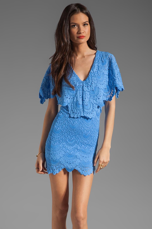 Nightcap Spanish Lace Poncho Dress in Topaz