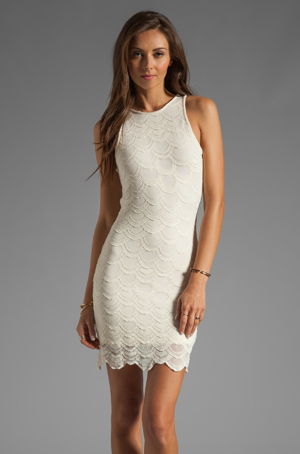 Nightcap Belize Victorian Lace Dress in Ivory