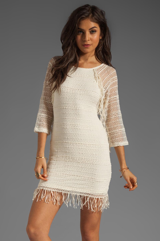 Nightcap Fringe Lace Raglan Dress in Natural